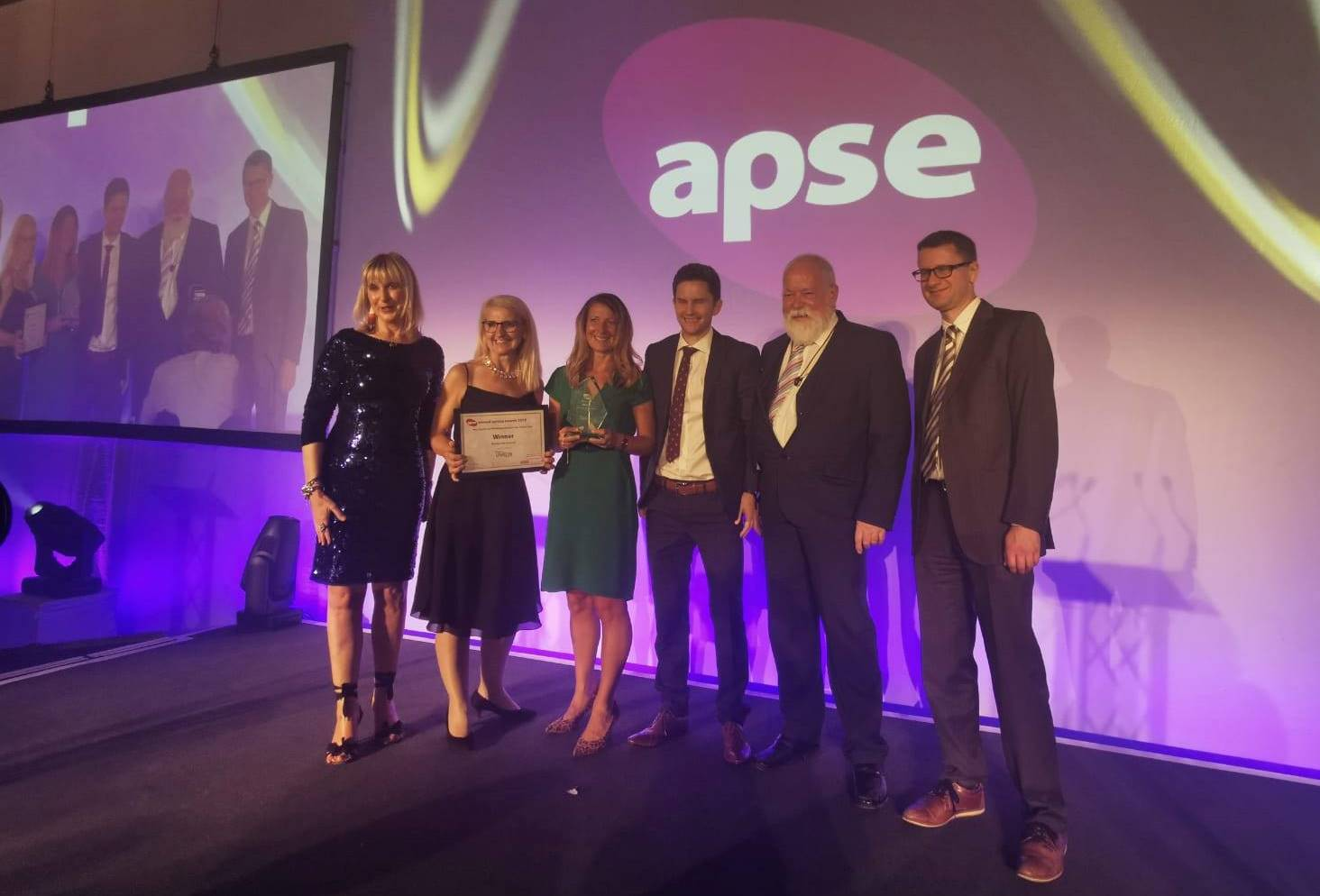 APSE Award being presented to Livewell team