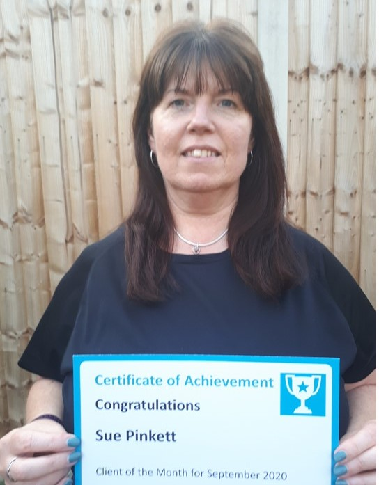 September Client of the Month - Sue Pinkett