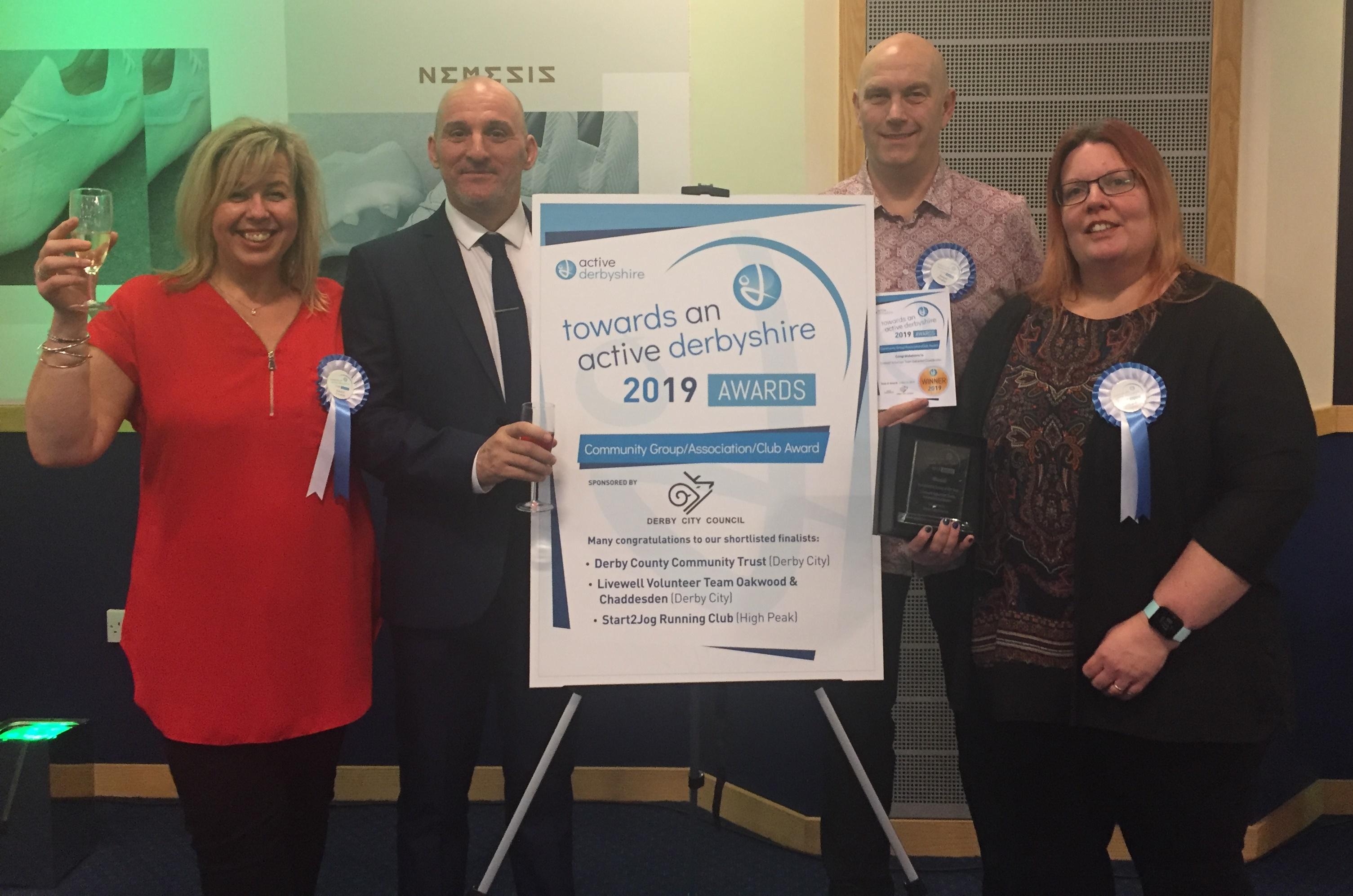 Livewell volunteers - Community Group Award winners