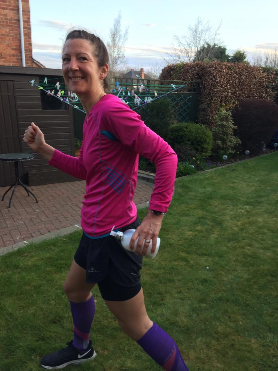 Livewell's Kellie taking part in the virual relay