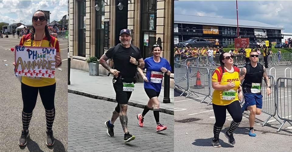 Lee and Annmarie in Derby Half Marathon