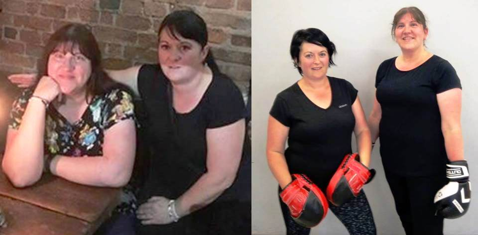Sharron and Charlotte before and after pics