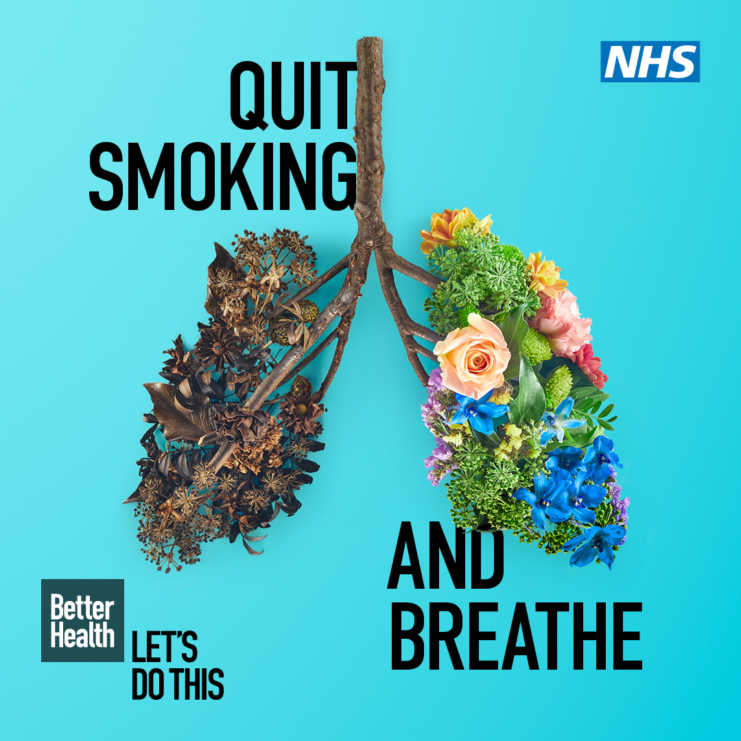 Stoptober campaign image - lungs