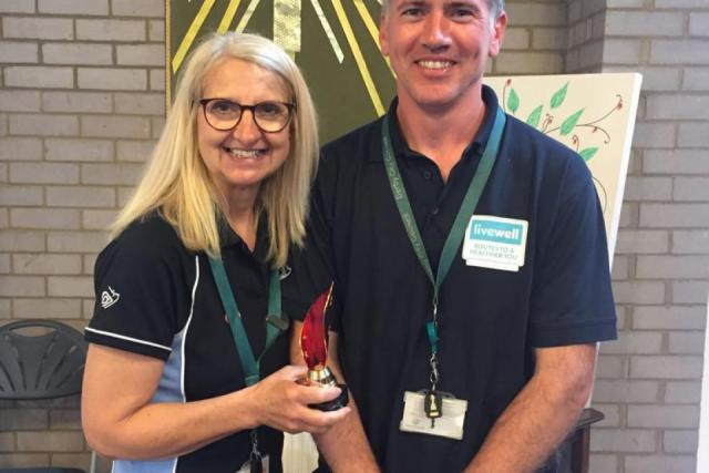 Livewell's Dawn and Paul with Shining Star Award