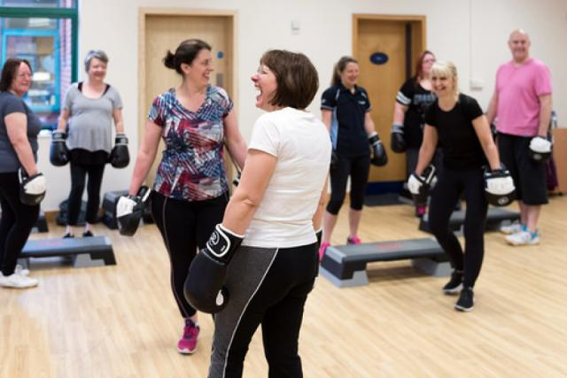 Image of group exercise session