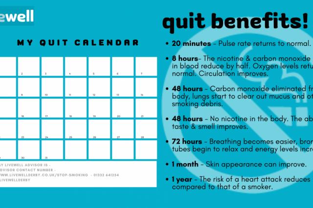 Livewell Quit Calendar