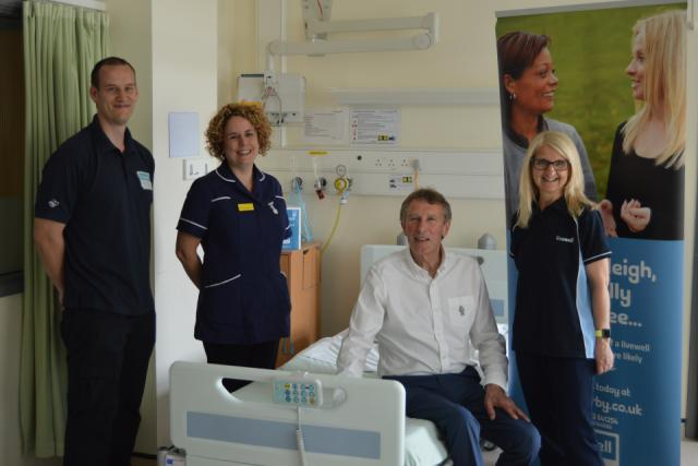 Photo of Livewell team and Councillor Repton at Royal Derby Hospital
