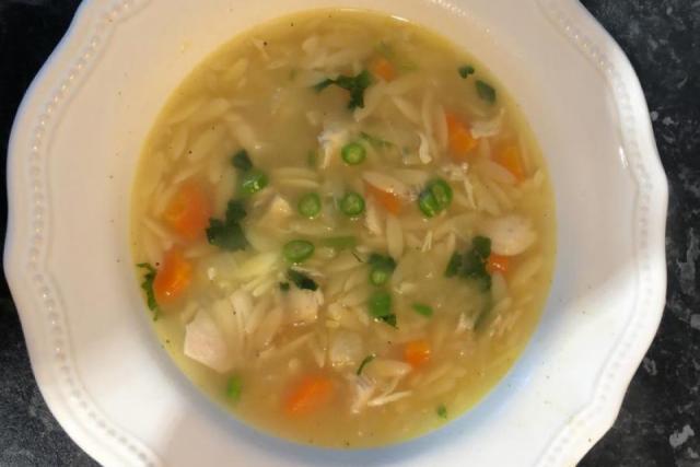 Orzo pasta chicken soup