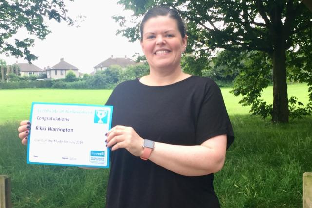 July Client of the Month - Rikki Warrington
