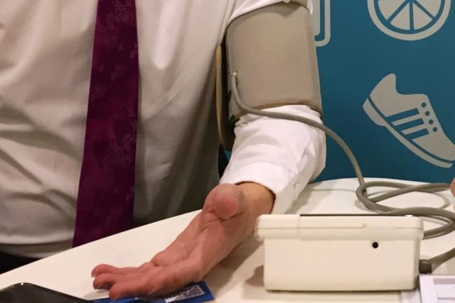 Taking blood pressure image